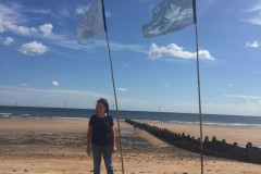 Blue Flag on Blyth Beach - photo by Headway Arts