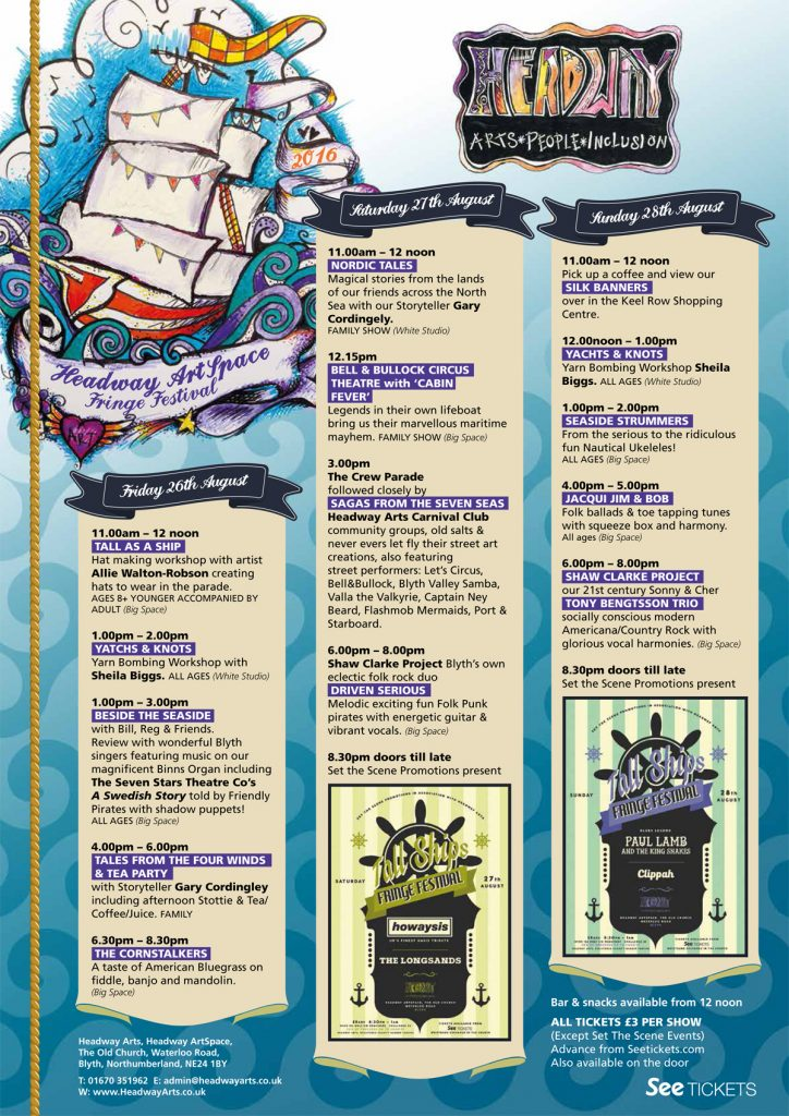 Fringe Festival Lineup