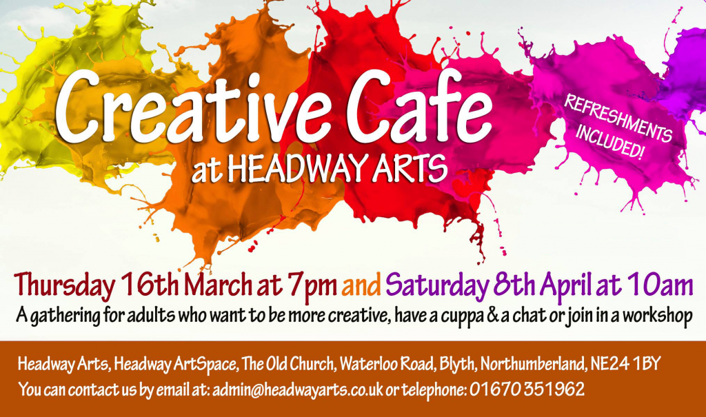 Creative Cafe March 16th and April 8th 2017