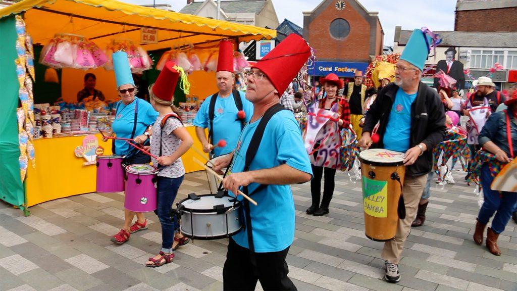 Blyth Valley Samba Band at Blyth Community Carnival 2017