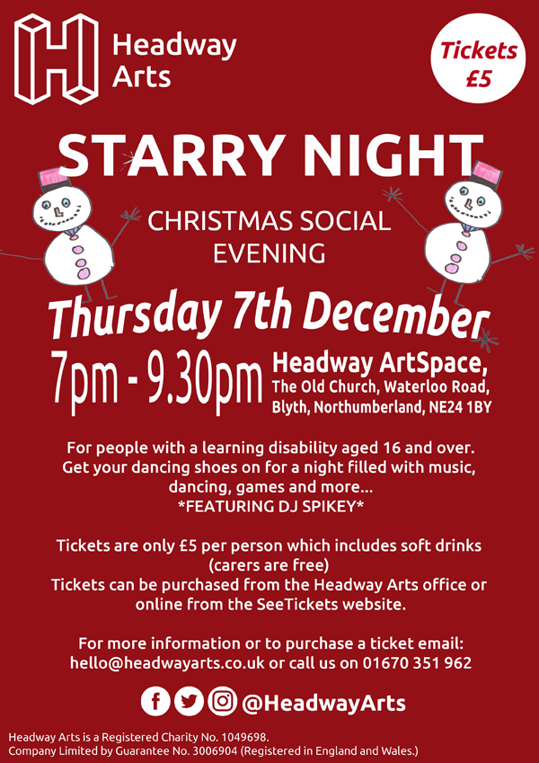 Starry Night Christmas Social Evening Poster