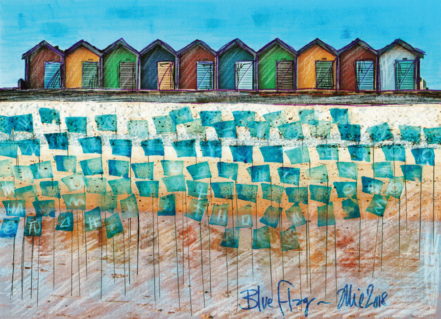 Blue Flag-Artist's Impression