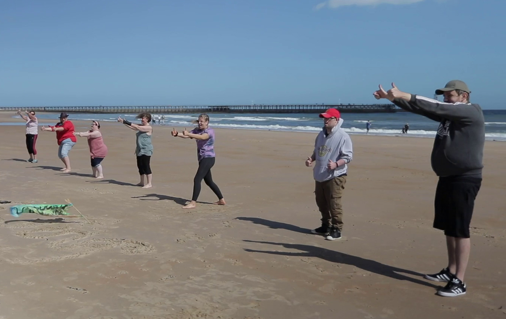 Headway Arts at Blyth Beach
